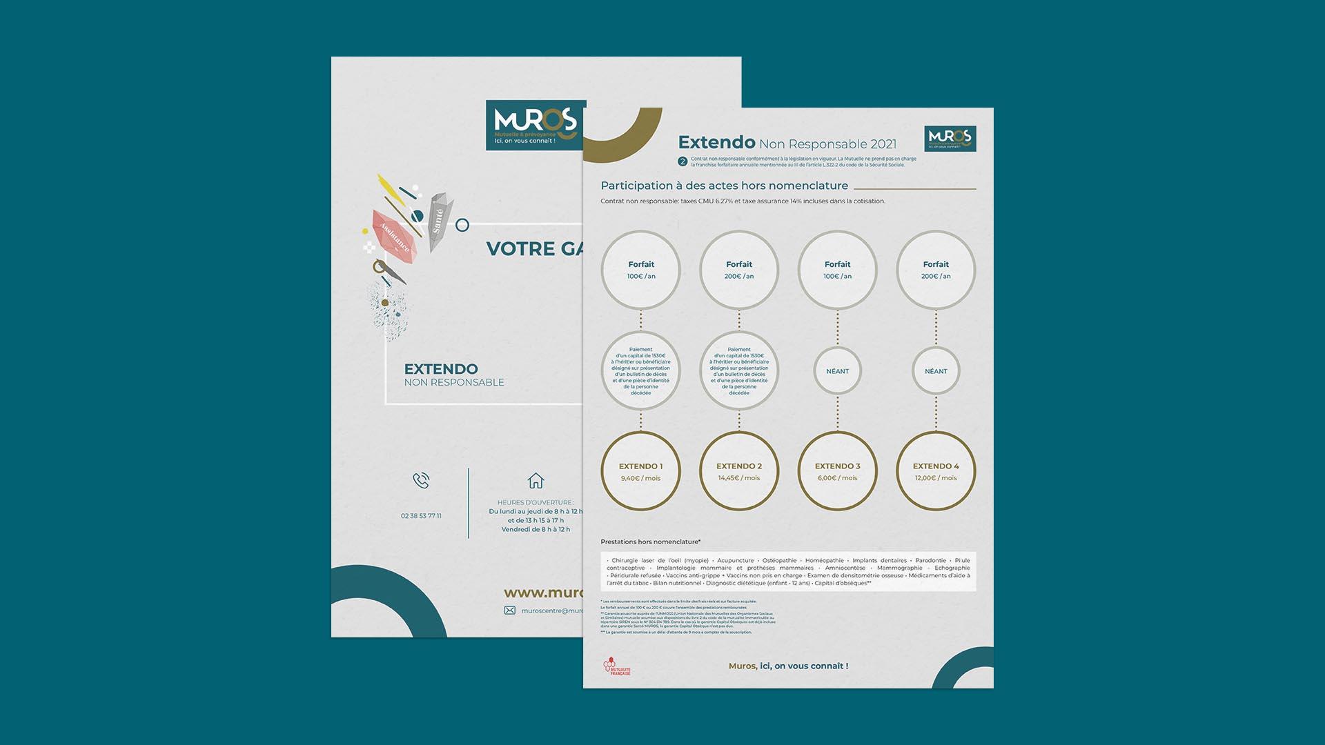 Communication visuelle pour la mutuelle Muros Orléans Centre