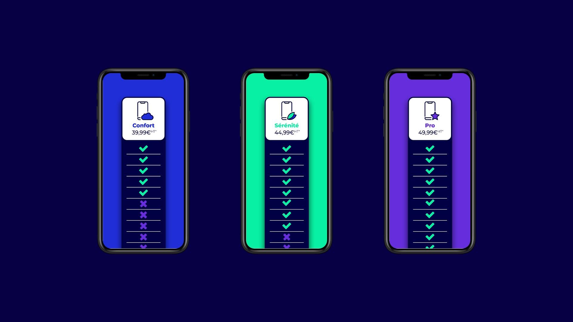 Version web vue mobile de la communication de Socle App